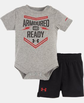 Boys' Newborn UA Armoured & Ready Bodysuit Set