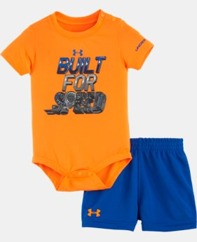 New Arrival Boys' Newborn UA Built For Speed Bodysuit Set   $32.99