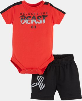 Boys' Newborn UA Release The Beast Bodysuit Set