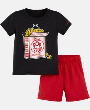 Boys' Newborn UA Don't Pop It Up Bodysuit Set LIMITED TIME: UP TO 30% OFF 1 Color $24.99