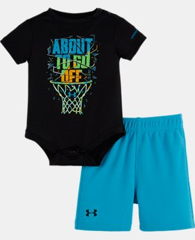 Boys' Newborn UA About To Go Off Bodysuit Set