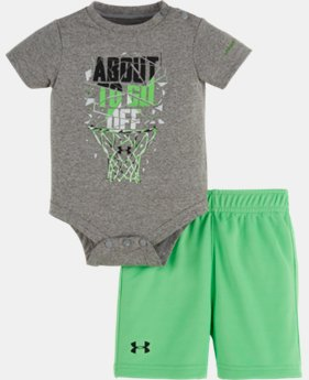 New to Outlet Boys' Newborn UA About To Go Off Bodysuit Set   $24.99
