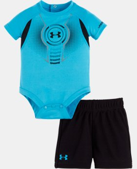 Boys' Newborn UA Logo Shield Bodysuit Set  1 Color $24.99
