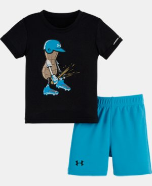 Boys' Newborn UA Peanut Baseball Bodysuit Set LIMITED TIME: FREE U.S. SHIPPING 1 Color $24.99