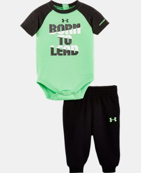 New to Outlet Boys' Newborn UA Born To Lead Bodysuit Set   $26.99