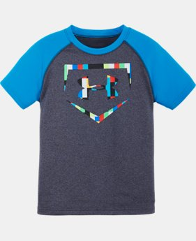 Boys' Pre-School UA Pixel Zoom Homeplate T-Shirt