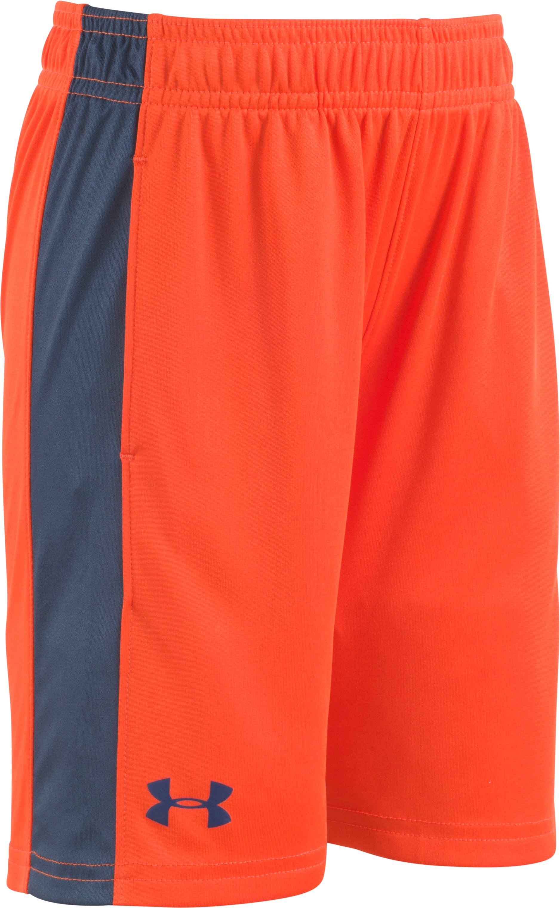 Boys' Pre-School UA Eliminator Shorts, Dark Orange, Laydown