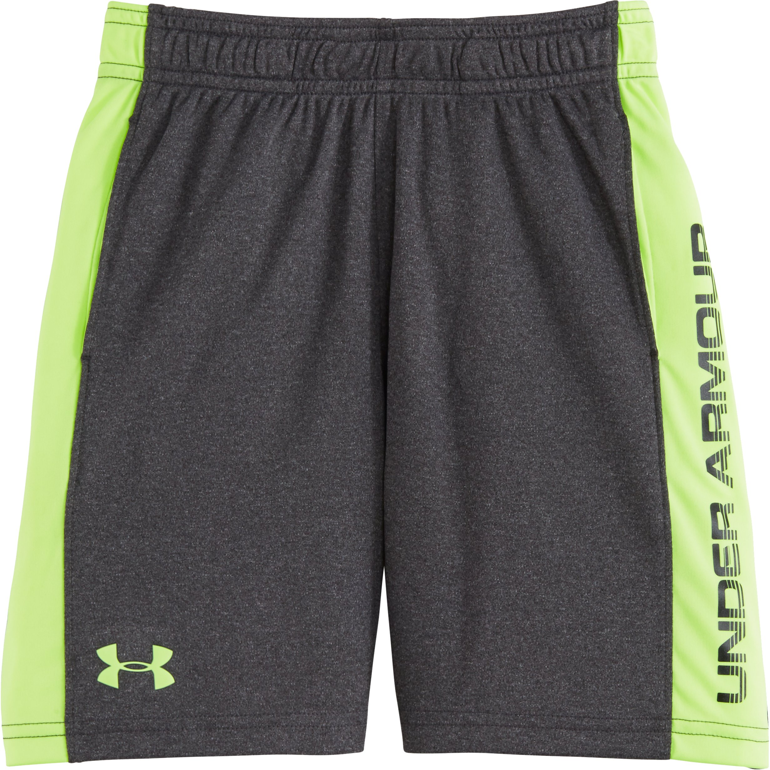 Boys' Toddler UA Eliminator Shorts, Carbon Heather, Laydown