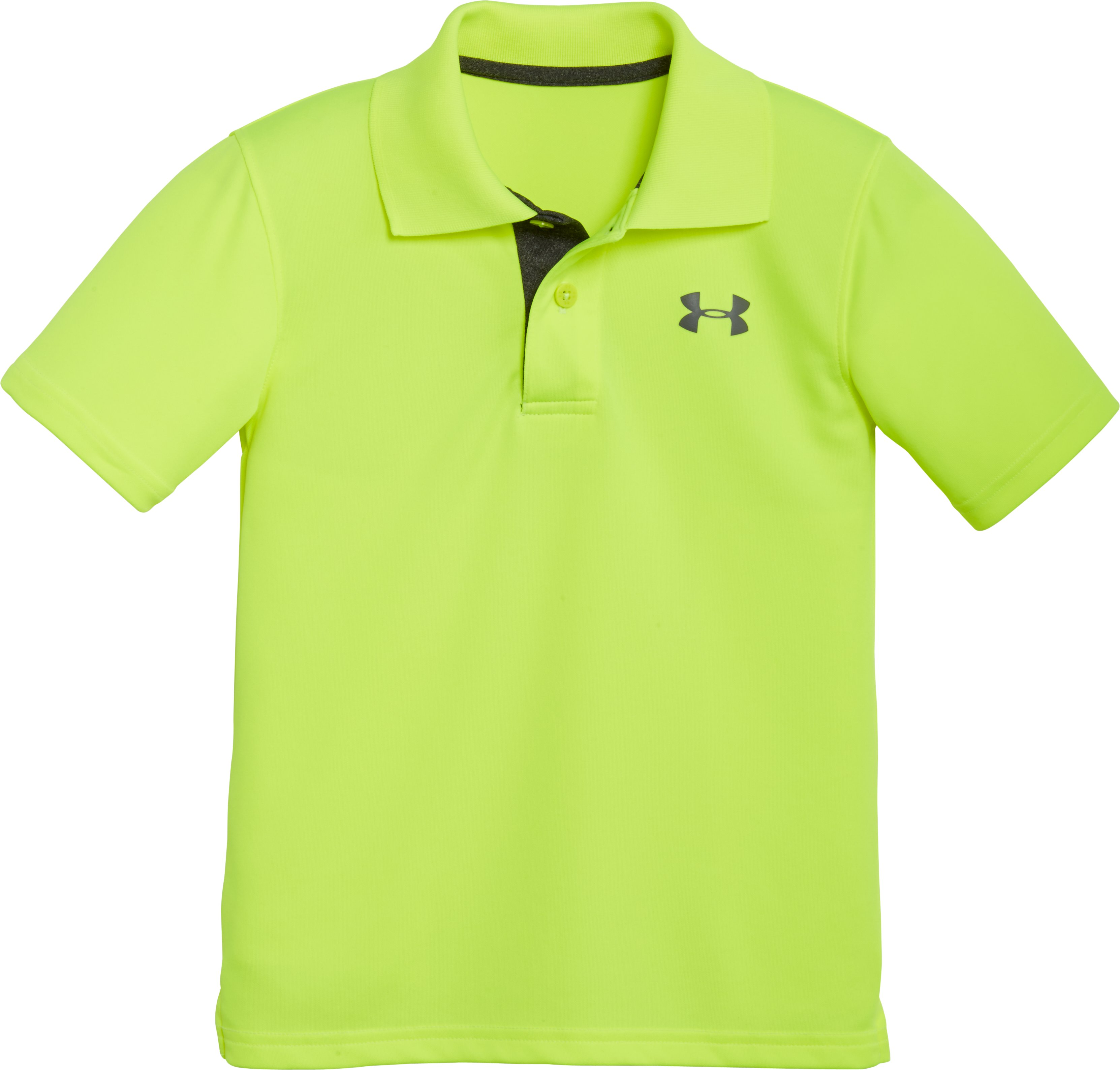 Boys' Toddler UA Play Polo, FUEL GREEN, Laydown