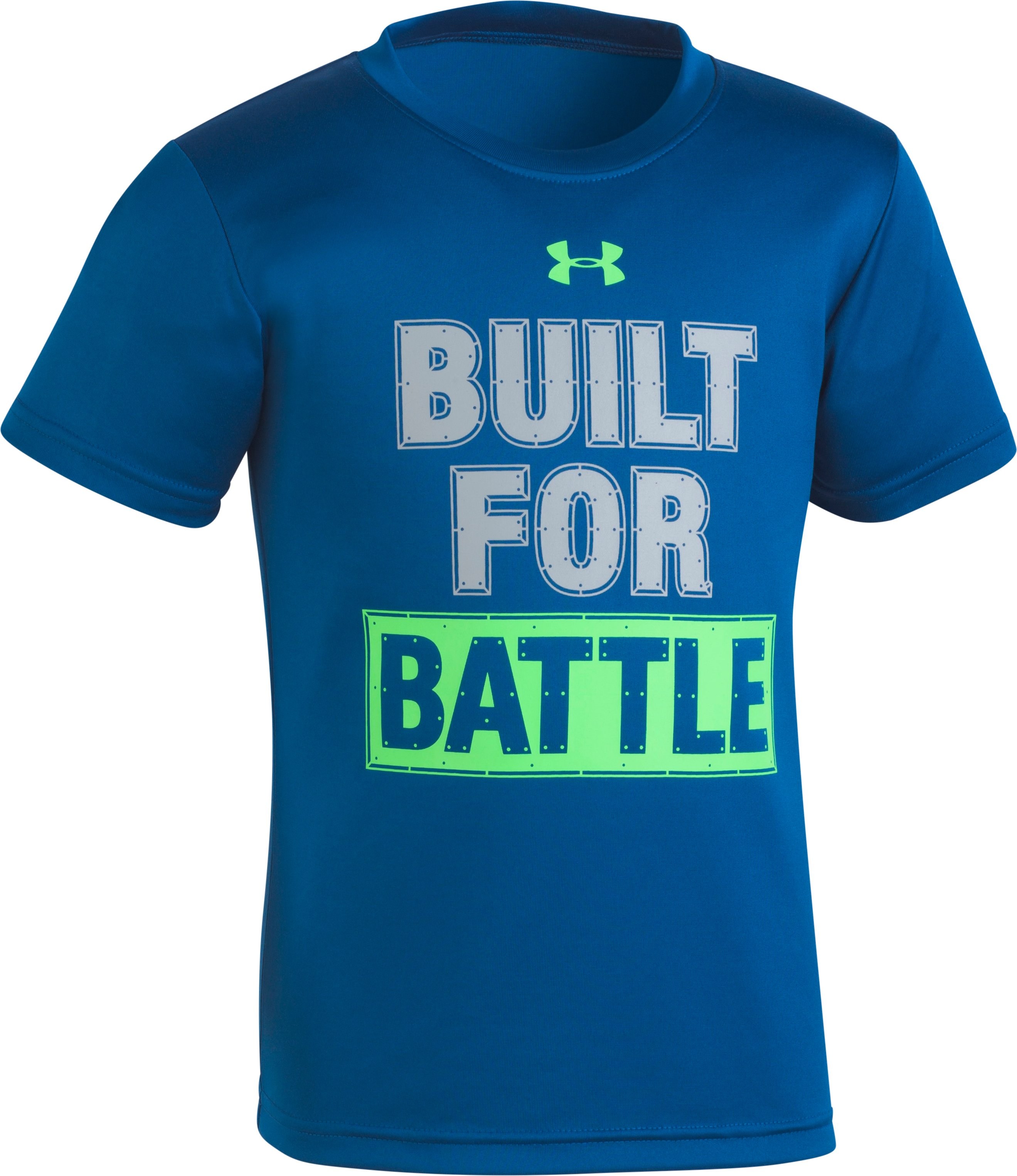 Boys' Pre-School UA Built For Battle T-Shirt , Moroccan Blue, zoomed