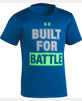Boys' Pre-School UA Built For Battle T-Shirt  FREE U.S. SHIPPING 1  Color Available $18
