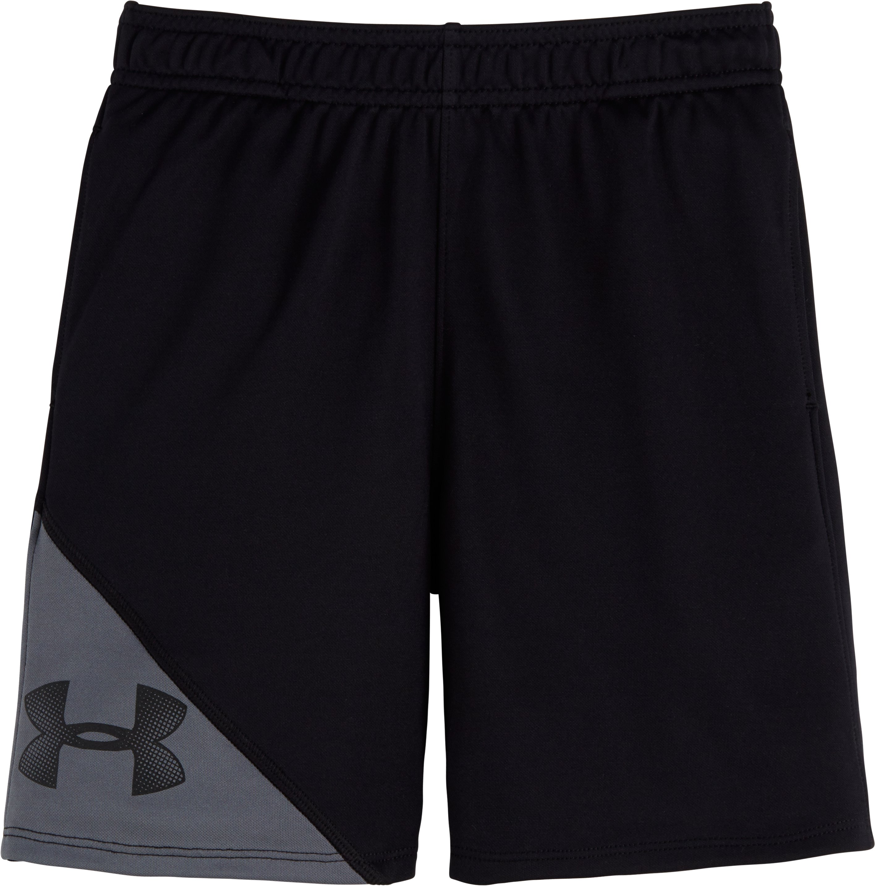 Boys' Pre-School UA Prototype Shorts, Black , Laydown