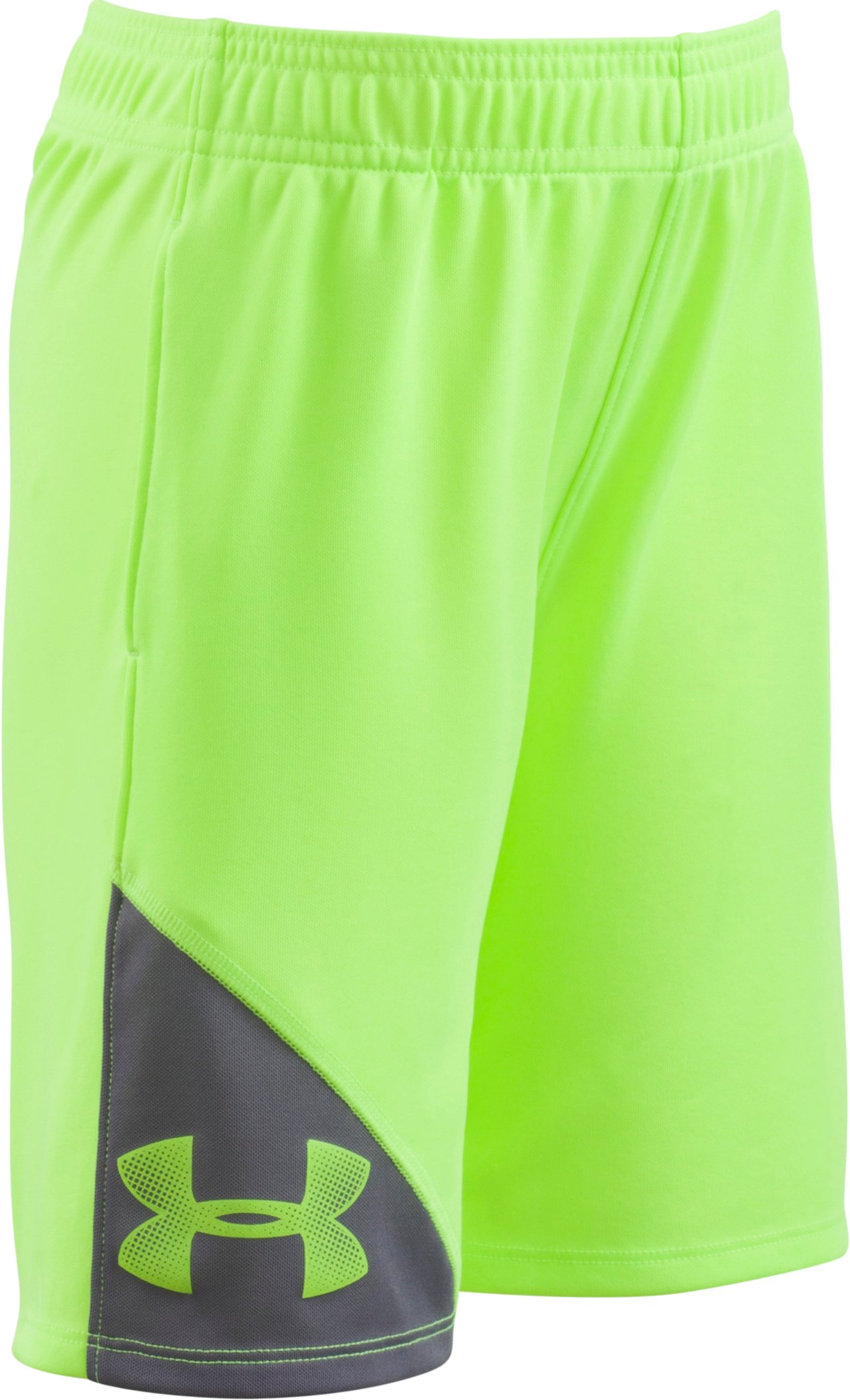 Boys' Pre-School UA Prototype Shorts, FUEL GREEN, Laydown