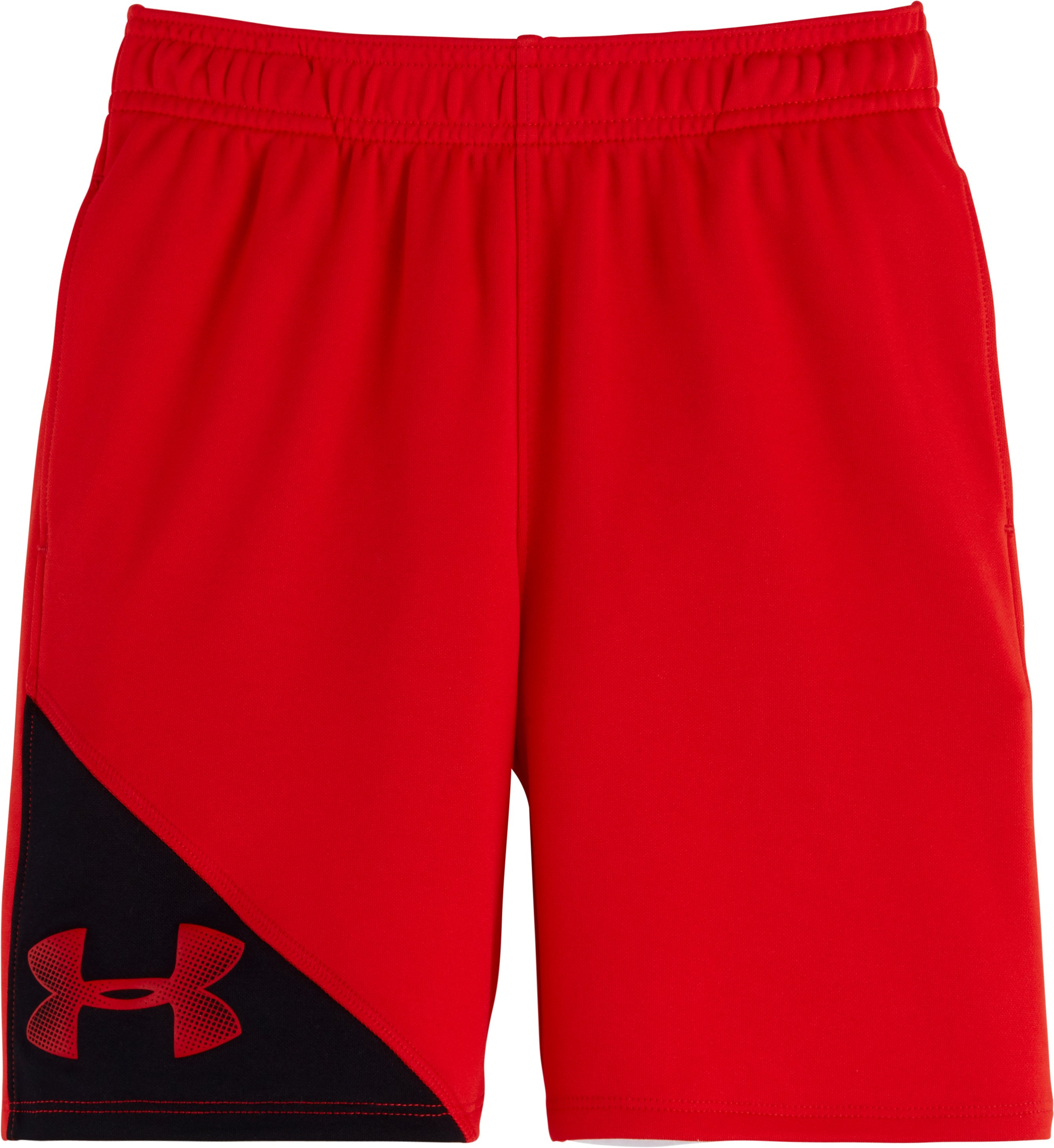Boys' Toddler UA Prototype Shorts, RISK RED, Laydown