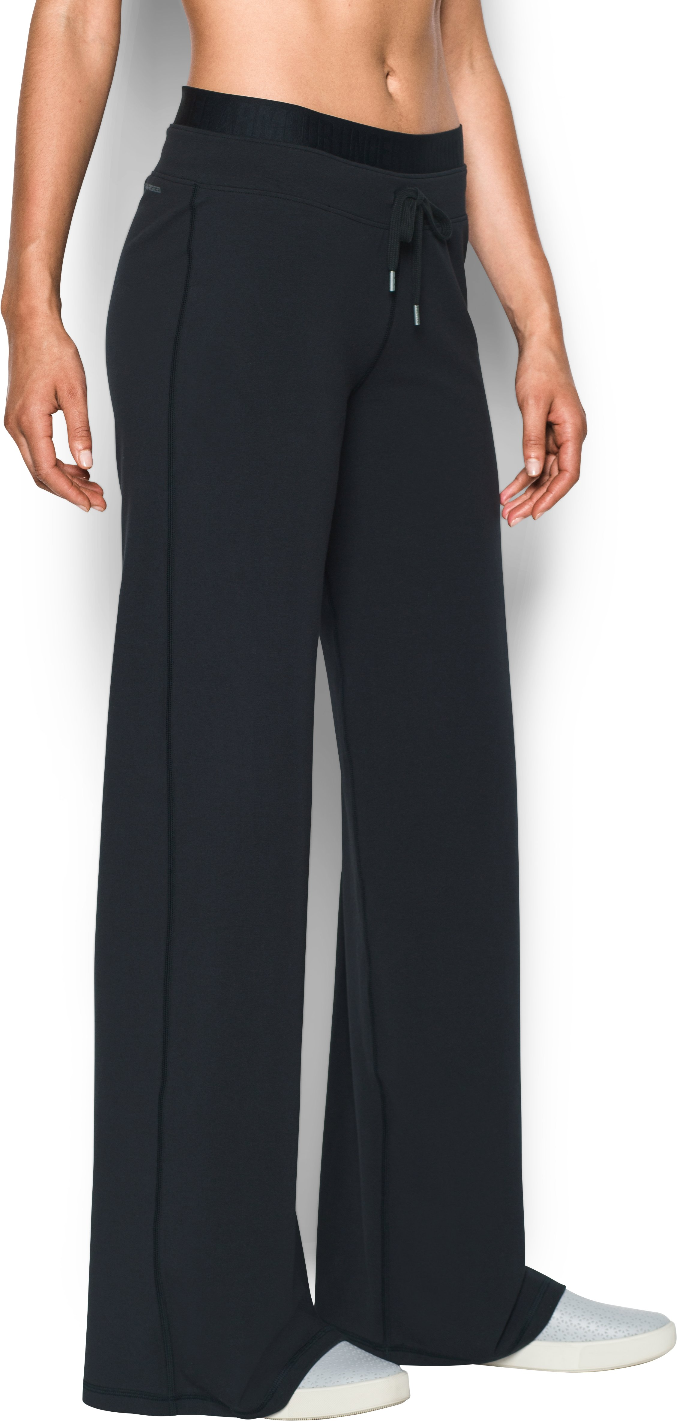 Women's UA Favorite Wide Leg Pants, Black