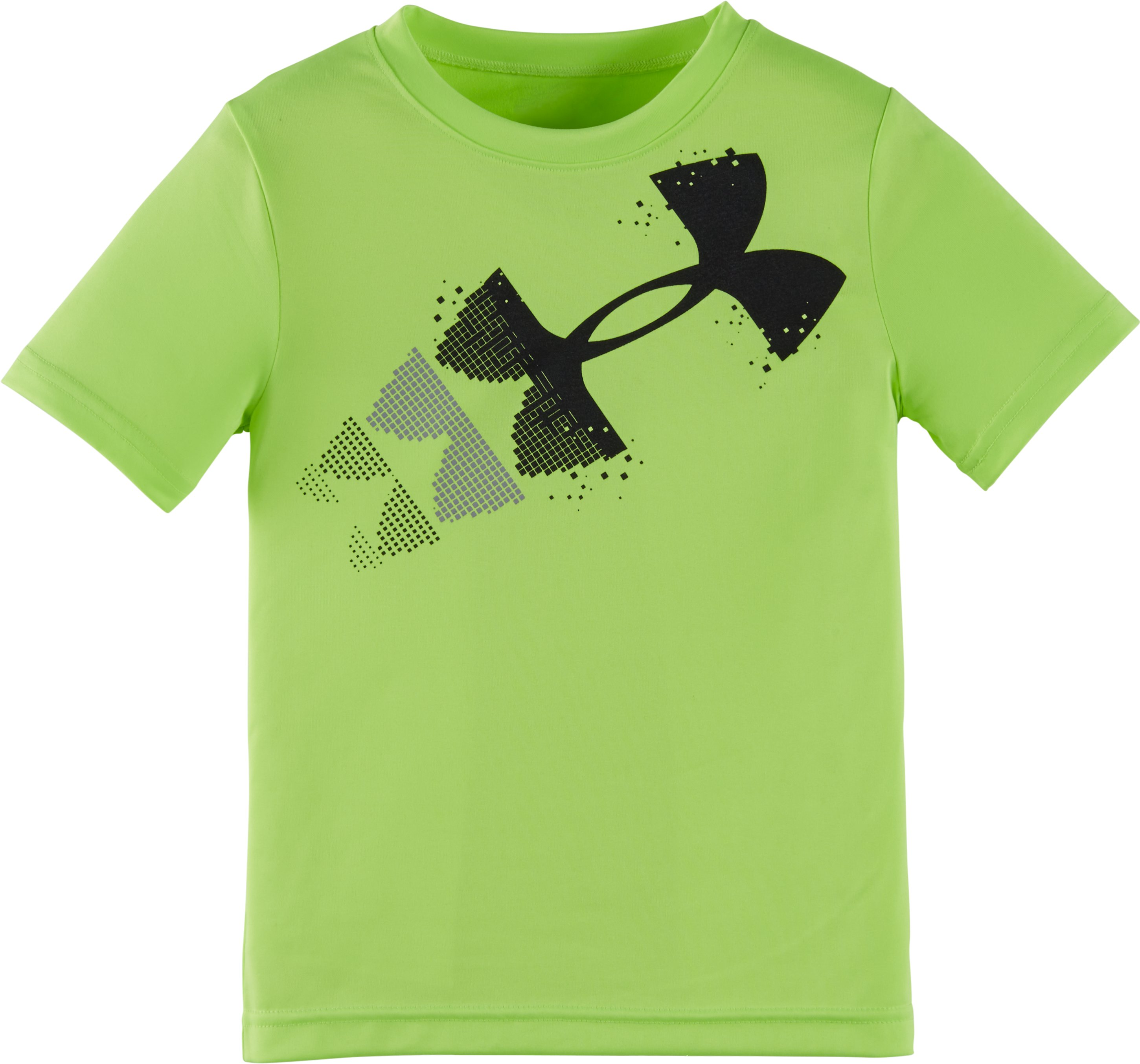 Boys' Pre-School UA Branded 1 T-Shirt, FUEL GREEN, Laydown