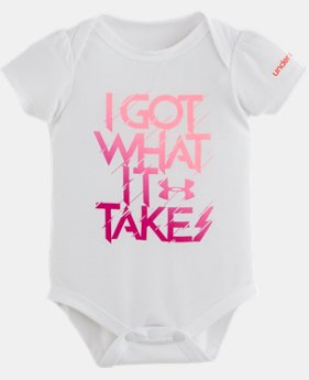 New Arrival Girls' Newborn UA I Got What It Takes Bodysuit LIMITED TIME: FREE SHIPPING 1 Color $14.99