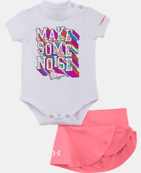 Girls' Newborn UA Make Some Noise Set  1 Color $26.99