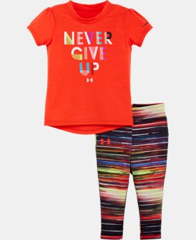 Girls' Infant UA Never Give Up Bodysuit Set