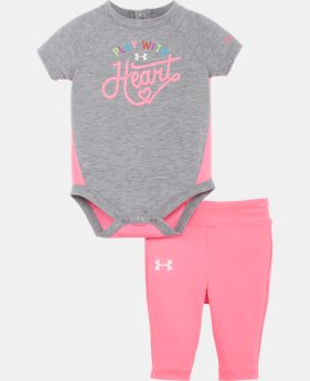 Girls' Newborn UA Play With Heart Bodysuit Set