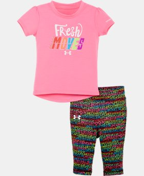 New Arrival Girls' Infant UA Fresh Moves Bodysuit Set   $34.99