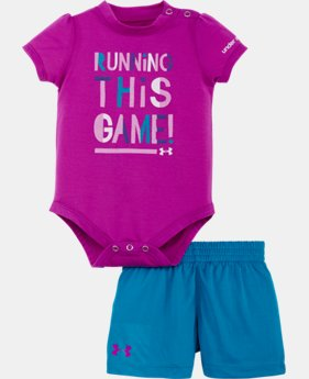 Girls' Newborn UA Running This Game Bodysuit Set
