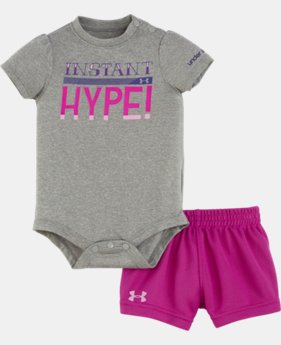 Girls' Newborn UA Instant Hype Bodysuit Set
