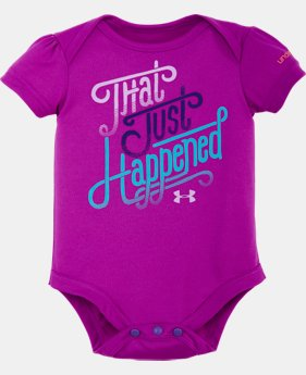Girls' Newborn UA That Just Happened Bodysuit Set