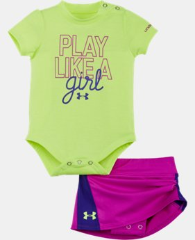 Girls' Newborn UA Play Like A Girl Bodysuit Skirt Set