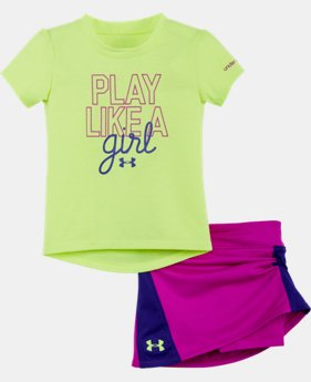 Girls' Infant UA Play Like A Girl Bodysuit Skirt Set