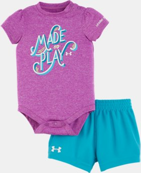 Girls' Newborn UA Made To Play Bodysuit Set