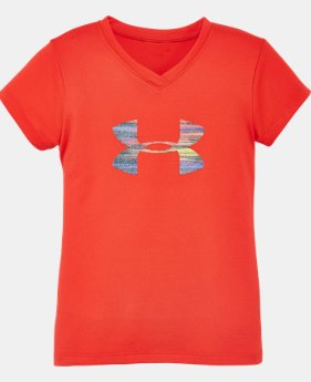 Girls' Pre-School UA Spectrum Big Logo T-Shirt   $13.99