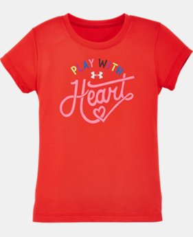 Girls' Pre-School UA Play With Heart T-Shirt