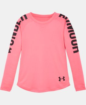 Girls' Pre-School UA Favorites Raglan Long Sleeve Shirt  1 Color $15.74