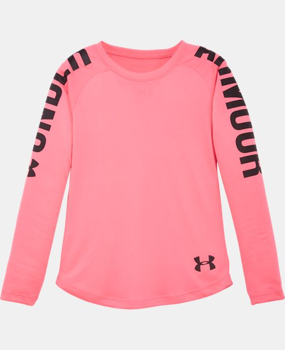 Girls' Pre-School UA Favorites Raglan Long Sleeve Shirt   $20.99