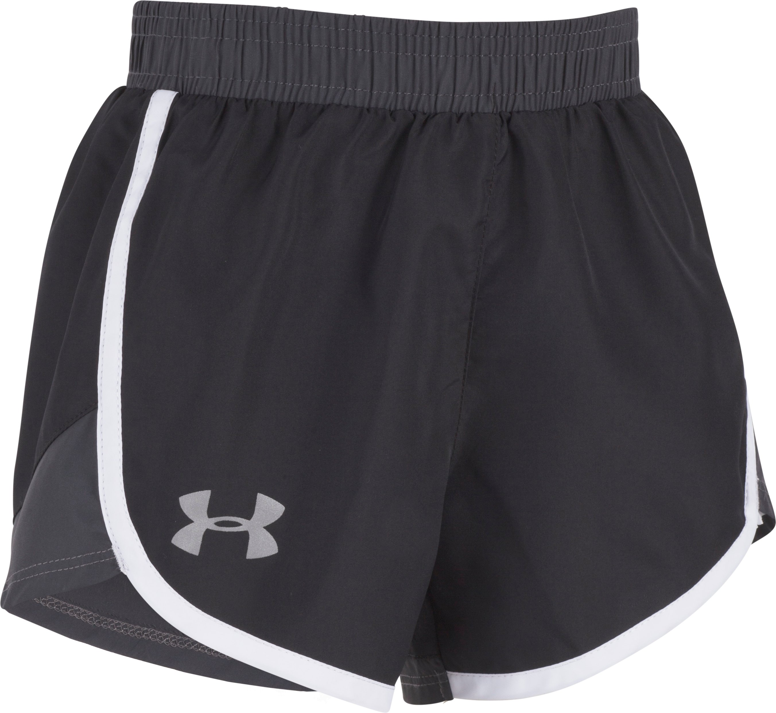 Girls' Pre-School UA Fast Lane Shorts, Black , Laydown