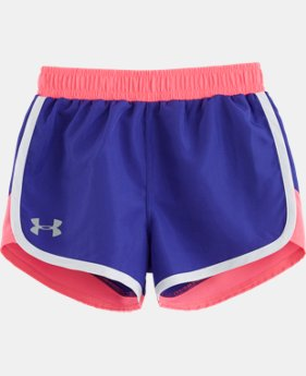 New Arrival Girls' Pre-School UA Fast Lane Shorts LIMITED TIME: FREE SHIPPING  $19.99