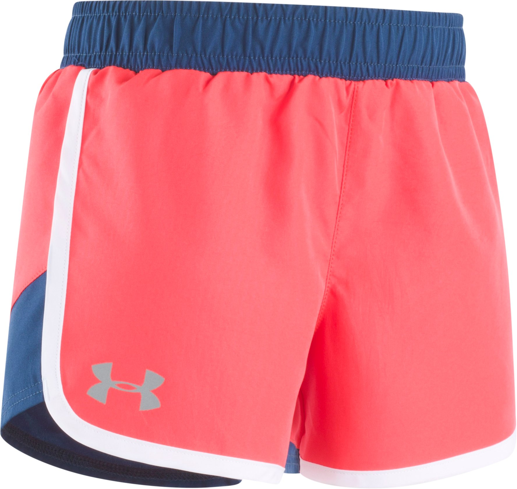 Girls' Pre-School UA Fast Lane Shorts, ROCKET RED, Laydown