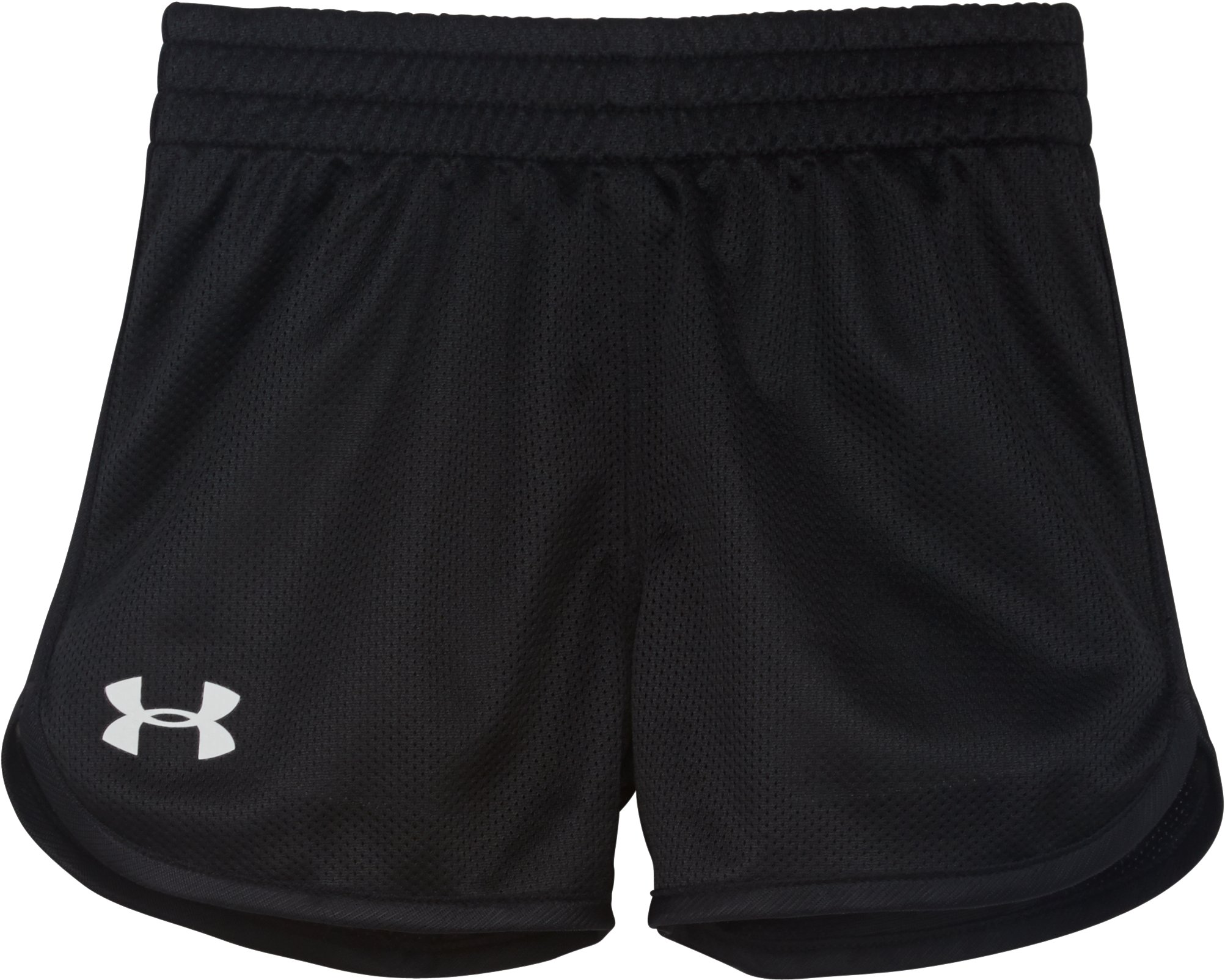 Girls' Toddler UA Essential Shorts, Black , Laydown
