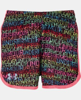 Girls' Toddler UA Wordmark Redux Essentials Shorts