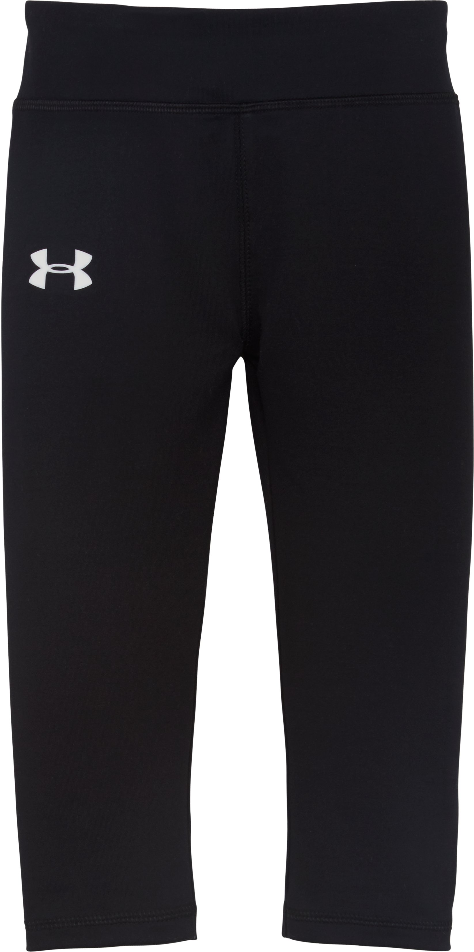 Girls' Pre-School UA Every Day Capris, Black , Laydown