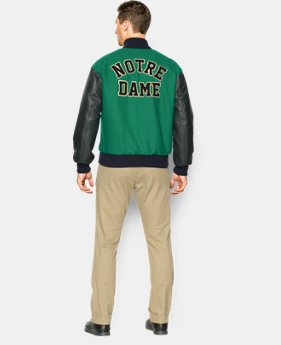 Men's Notre Dame Shamrock Series UA Varsity Jacket  1 Color $337.99