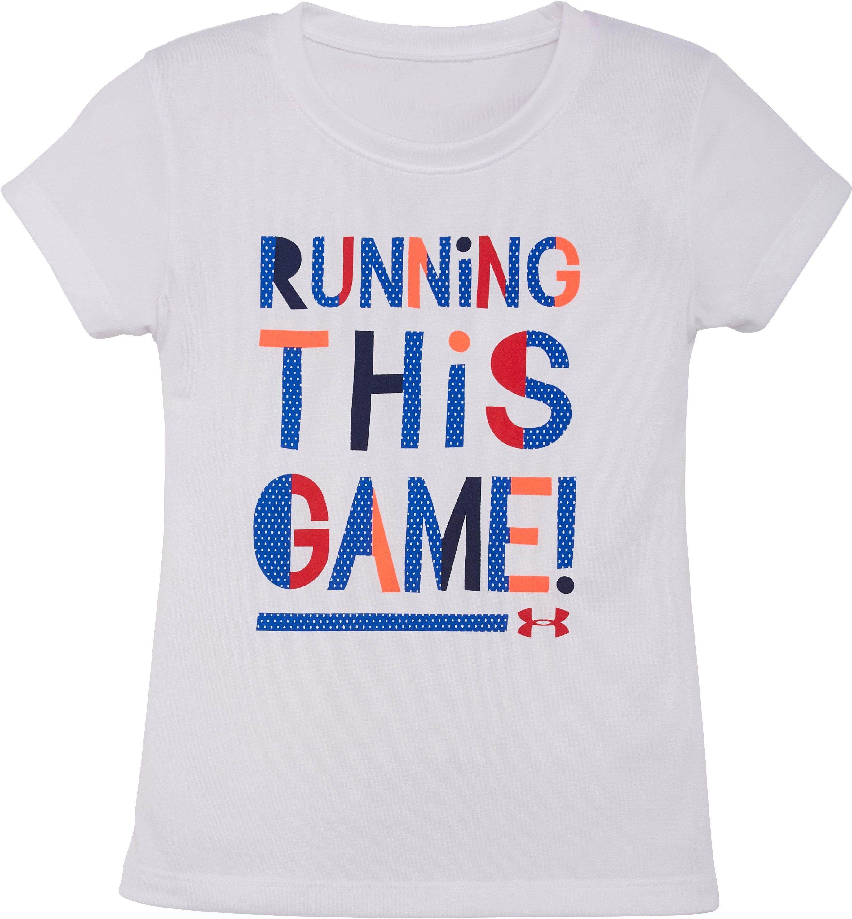 Girls' Pre-School UA Running This Game T-Shirt, White
