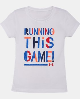 Girls' Pre-School UA Running This Game T-Shirt LIMITED TIME: FREE U.S. SHIPPING 1 Color $13.99