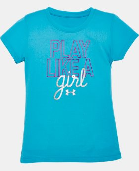 Girls' Pre-School UA Play Like A Girl T-Shirt