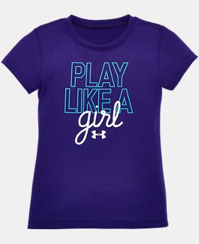 New Arrival Girls' Toddler UA Play Like A Girl T-Shirt   $13.99