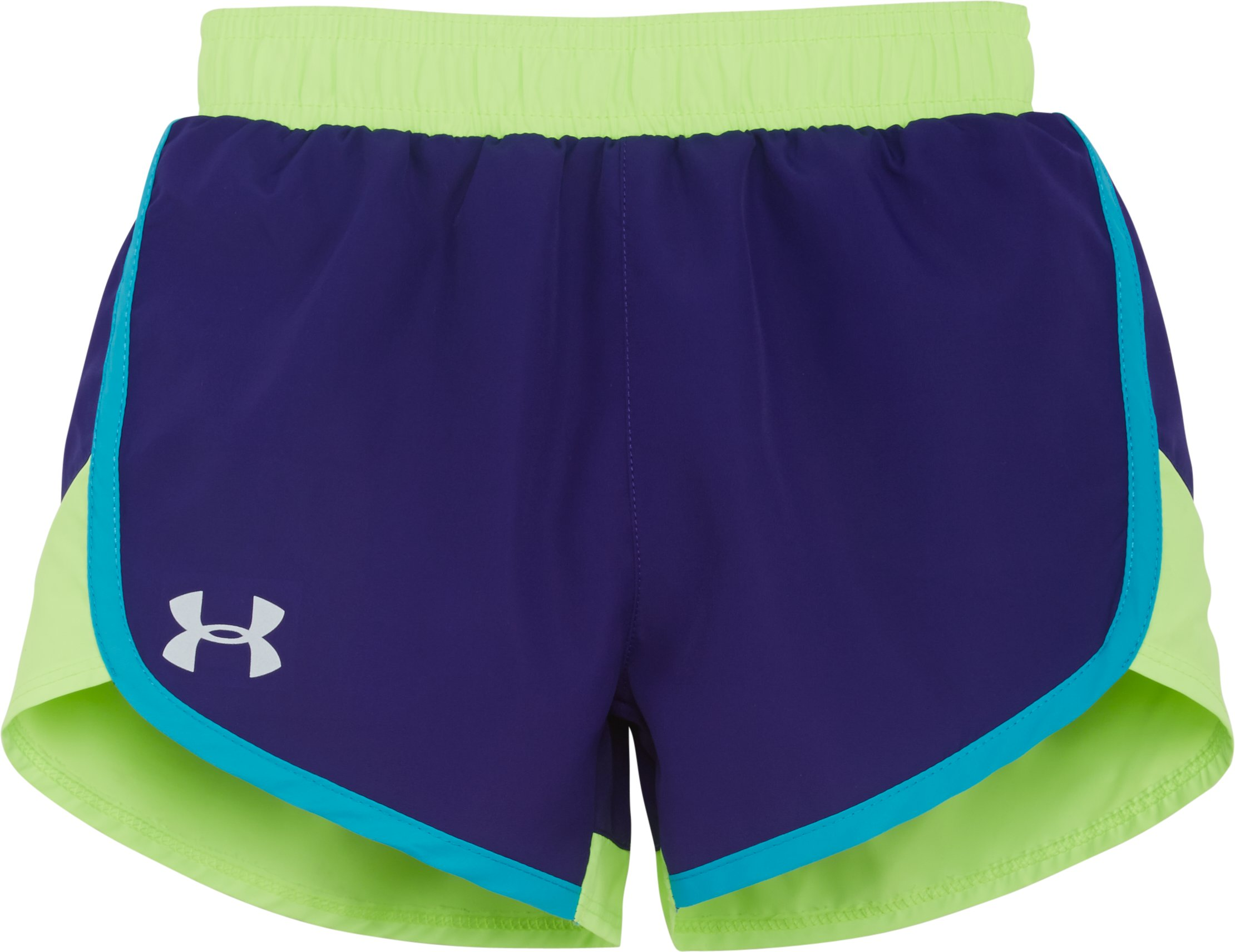 Girls' Toddler UA Fast Lane Shorts, PURPLE SKY, Laydown