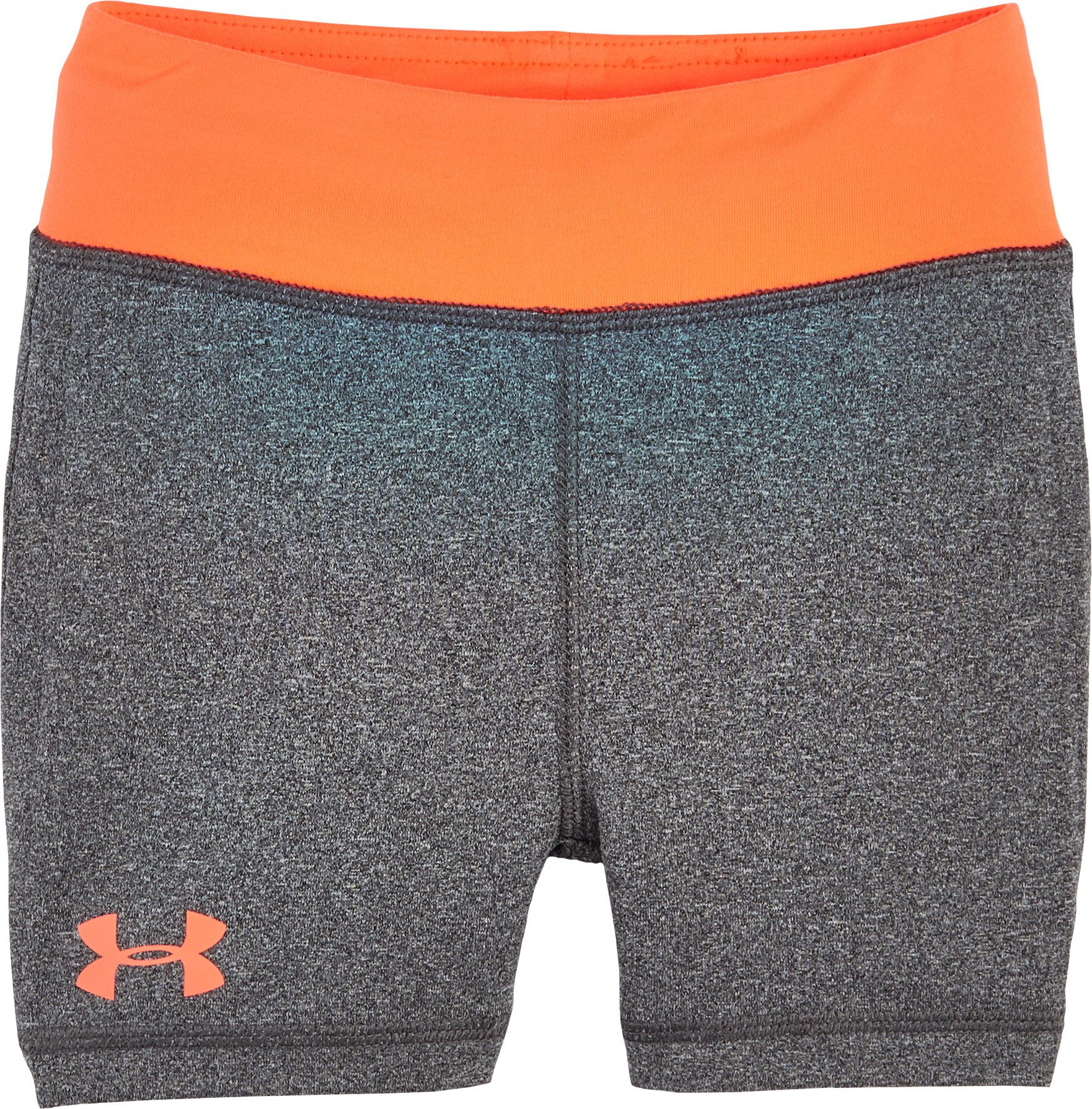 Girls' Pre-School UA Yoga Shorts, Carbon Heather, Laydown