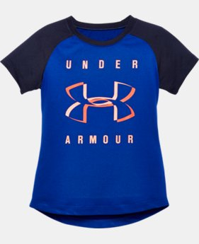 Girls' Pre-School UA Under Armour Raglan T-Shirt LIMITED TIME: FREE U.S. SHIPPING 1 Color $16.99