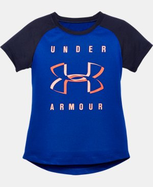 Girls' Toddler UA Under Armour Raglan T-Shirt LIMITED TIME: FREE U.S. SHIPPING 1 Color $16.99